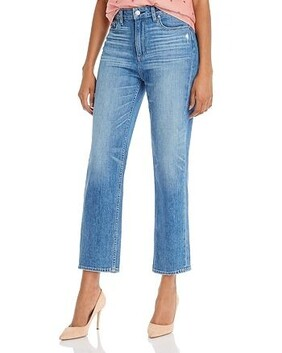 Paige Noella Straight Jardin Distressed Jeans